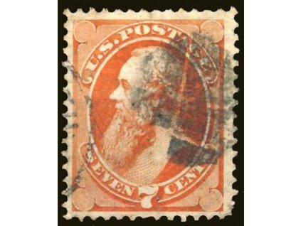 USA, 1870, 7C Mc Masters, MiNr.40, razítkované