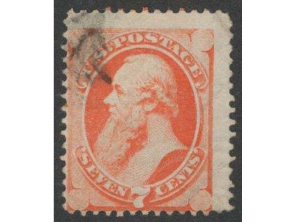 USA, 1870, 7C McMasters, MiNr.40, razítkované, dv