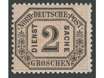 Norddt. Postbezirk, 1870, 2Gr služební, MiNr.5, * po nálepce