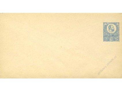 1871, celinová obálka 10Kr Franc Josef