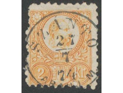 1871, 2Kr Franc Josef, MiNr.8, razítkované, dv