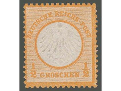 1872, 1/2Gr Znak, MiNr.14, (*)