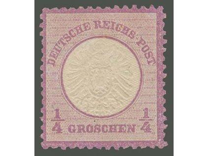 1872, 1/4Gr Znak, MiNr.16, těžší *