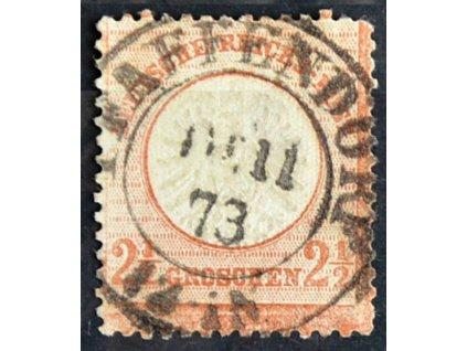 1872, 2 1/2Gr Orel, MiNr.21, razítkované