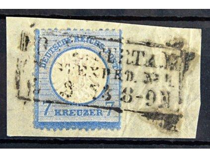1872, 7Kr Orel, výstřižek, MiNr.26, razítkované