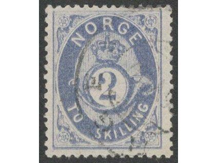 1872, 2Sk modrá, MiNr.17, razítkované