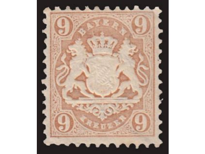 Bayern, 1873, 9Kr Znak, MiNr.28Y, * po nálepce