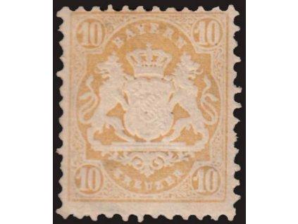 Bayern, 1873, 10Kr Znak, MiNr.29Y, * po nálepce, dv