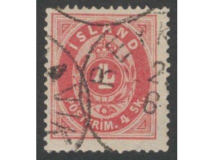 1873, 4Sk karmínová, Mi.950Eur, razítkované