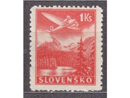 1944, 1Kč Letecká, průsvitka, Nr.L3, **, ilustrační foto