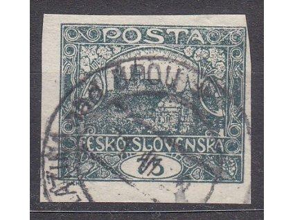 75h šedá, rámečkový typ, Nr.18, razítkované