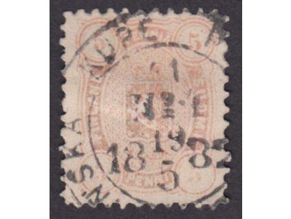 1875, 5C Znak, MiNr.13A, razítkované, dv