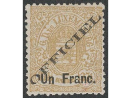 1875, 1Fr/ 37 1/2C služební, MiNr.17I, * po nálepce