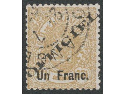 1875, 1Fr/ 37 1/2C služební, MiNr.17I, razítkované
