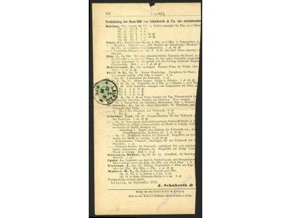 1876, DR Leipzig, část novin vyfr. zn. 3Pf