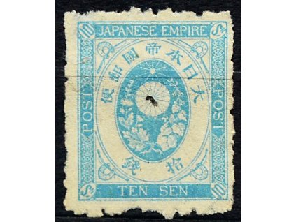 Japonsko, 1876, 10S modrá, Mi.40Euro, (*)