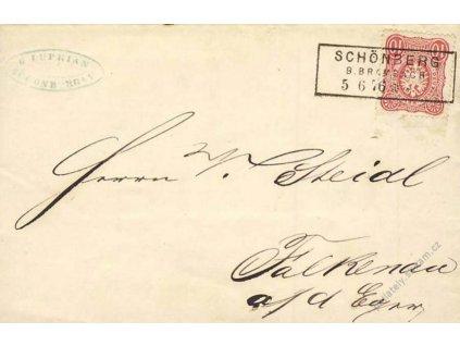 1876, DR Schonberg, skládaný dopis