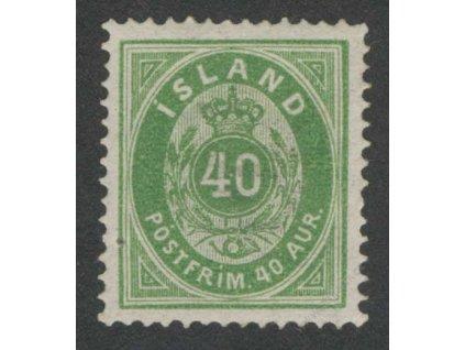 1876, 40A zelená, MiNr.11A, * po nálepce, drobná nečistota v papíru
