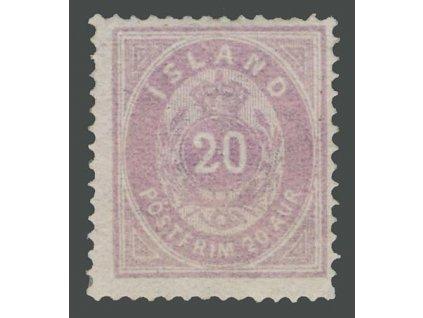 1876, 20A fialová, MiNr.10A, * po nálepce