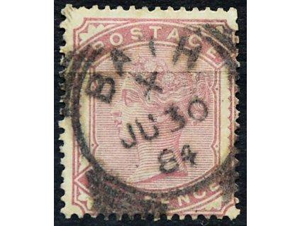 1880, 2P Viktoria, Mi.60Euro, MiNr.58, razítkované