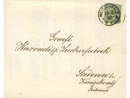 1880, DR Weissenfels, skládaný reklamní tiskopis