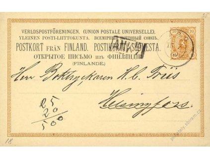 1880, DR Abo, dopisnice 10P