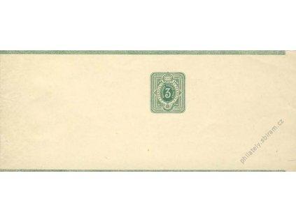 1880, novinová páska 3Pf, neprošlé