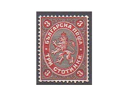 1881, 3St Znak, těžká * , krátký zoubek