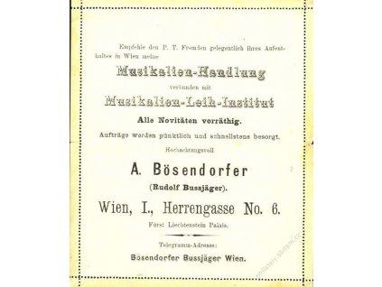 1883, zálepka 3Kr s reklamním přítiskem