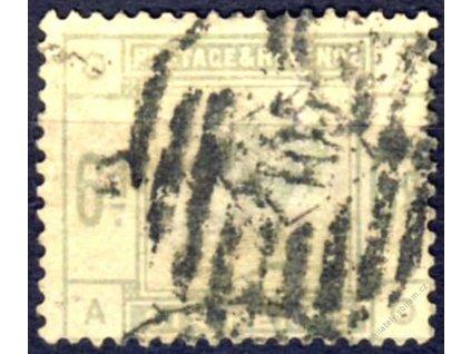 1883, 6P Viktoria, Nr.79, razítkované, Mi.160Euro