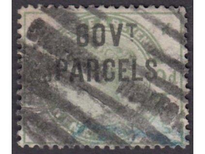 1883, 9P služební, GOVt. PARCELS, MiNr.24, razítkované