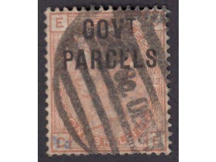 1883, 1Sh služební, GOVt. PARCELS, MiNr.25I, razítkované, kzy