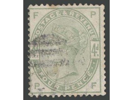 1883, 4P Viktoria, MiNr.77, razítkované, skvrnka