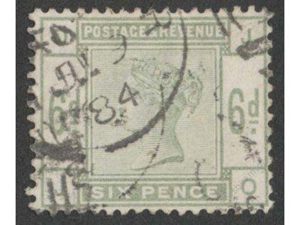 1883, 6P Viktoria, MiNr.79, razítkované