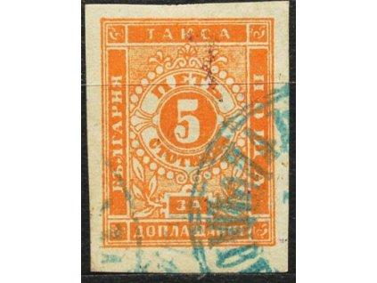 1885, 5St doplatní, MiNr.4, razítkovaná