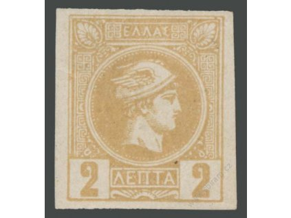 1886, 2L Merkur, MiNr.68C, * po nálepce