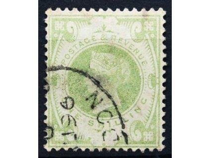 1887, 1Sh Viktoria, světlý odstín, razítkovaná