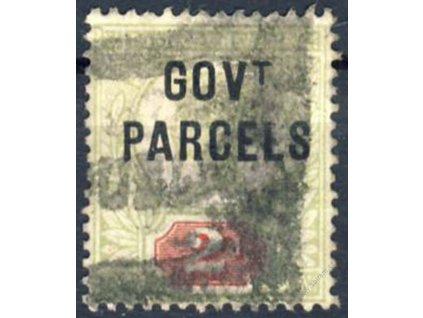1887, 2P s přetiskem GOVT, Nr.27, razítkované, dv