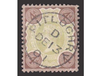 1887, 4P Viktoria, MiNr.91, razítkované