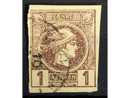 1889, 1L Hermes, DV - skvrna vlevo vedle hlavy