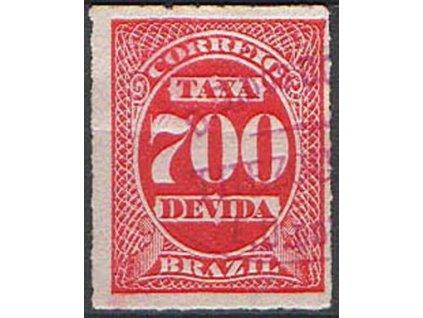 Brasilie, 1890, 700R doplatní, razítkovaná