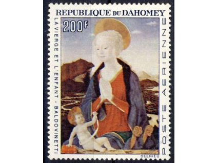 Dahomey, 1966, 200Fr Obraz, MiNr.295, **