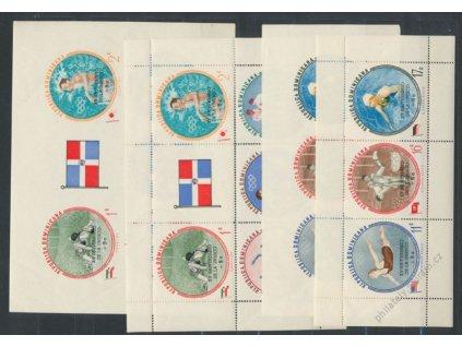Dominika, 1962, série známek a aršíků Sport, **/*