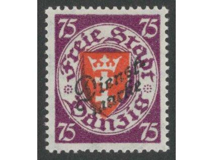 Danzig, 1924, 75Pf služební, MiNr.51, * po nálepce