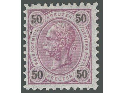 1890, 50Kr Franc Josef, MiNr.60, * po nálepce