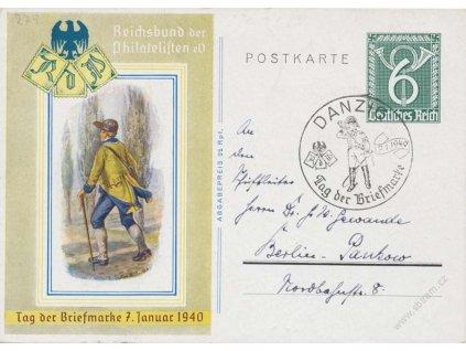 Danzig, 1940, Danzig, Den známky, privátní dopisnice 6Pf