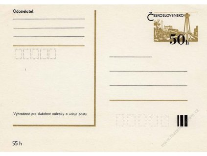 CDV 191 Bratislava (I), tmavý tisk
