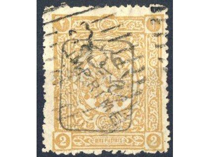 1892, 2Pia Znak s přetiskem, Mi.150Euro, razítkované