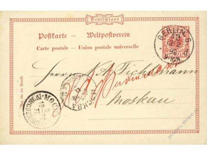1892, DR Berlín, dopisnice zasl. do Moskvy