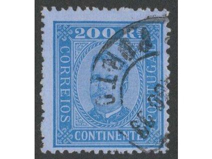 1892, 200R Carlos, MiNr.76yB, razítkované
